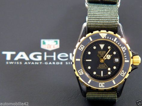 (Pre-TAG) Heuer 1000 Submariner ladies Black Coral on military green Nato 980028 | eBay. GBP 379.95 or make offer.