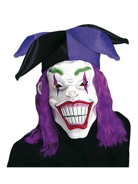 Latex Bad Clown Maske mit Hut und Perücke Halloween