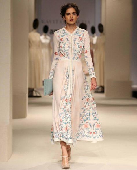 Thulian Pink Printed Maxi Dress - Kavita Bhartia - Amazon India Fashion Week - Off The Runway