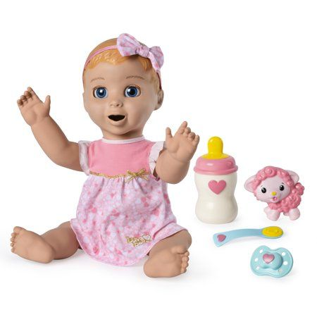 Luvabella Blonde Hair Responsive Baby Doll With Real Expressions And Movement For Ages 4 And Up Walmart Com Interactive Baby Dolls Baby Dolls Interactive Baby