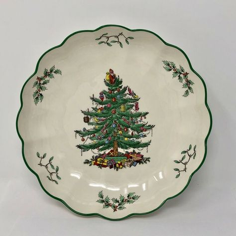 Details About Spode Christmas Tree Round Flute Bowl Dish 8 Inches Spode Christmas Spode Christmas Tree Spode