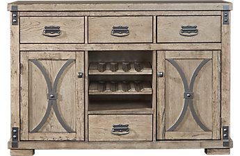 Sierra Vista Driftwood Server With Images Dining Room Storage Rectangle Dining Set Dining Room Buffet