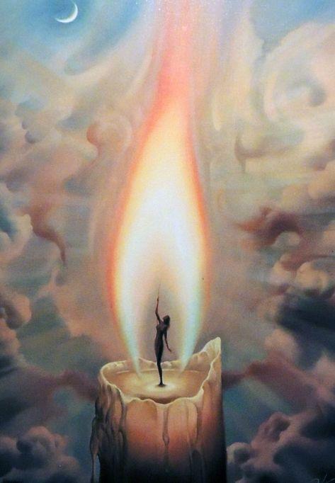 "Patrick Larabee : surreelust: ""Candle 2000 by Vladimir Kush "" Vladimir Kush, Fantasy Kunst, Fantasy Art, Painting Inspiration, Art Inspo, Surreal Artwork, Prophetic Art, Dark Art, Amazing Art"