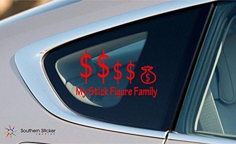 My stick figure family money symbol vinyl keypad trackpad sticker macbook apple funny decal skins stickers red ssc inc