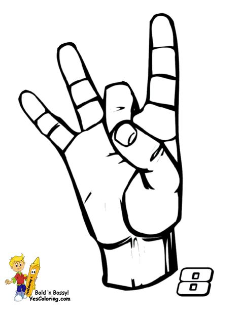 24 Best Steadfast Sign Language Alphabet Coloring Pages