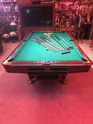 Advertisement Ebay 10 Ft Rare Tournament Size Brunswick Gold Crown Pool Table W Light Access In 2020 Indoor Games Pool Table Fun Sports