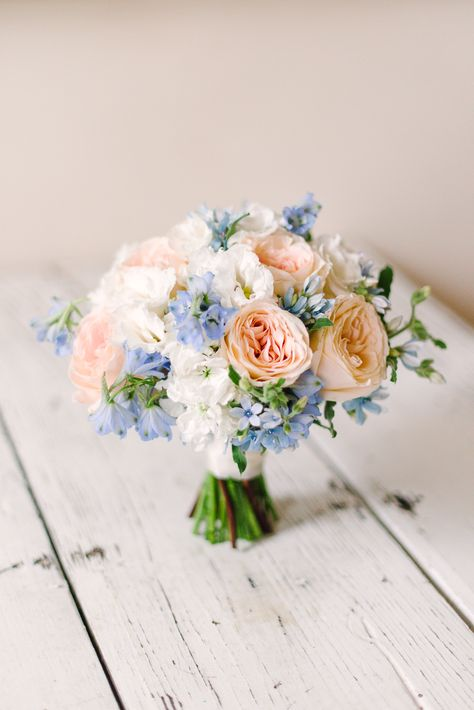 Soft Blue Hues with Pops of Peach at Decatur House in Washin.-Soft Blue Hues with Pops of Peach at Decatur House in Washington, D.C Soft Blue Hues with Pops of Peach at Decatur House in Washington, D.
