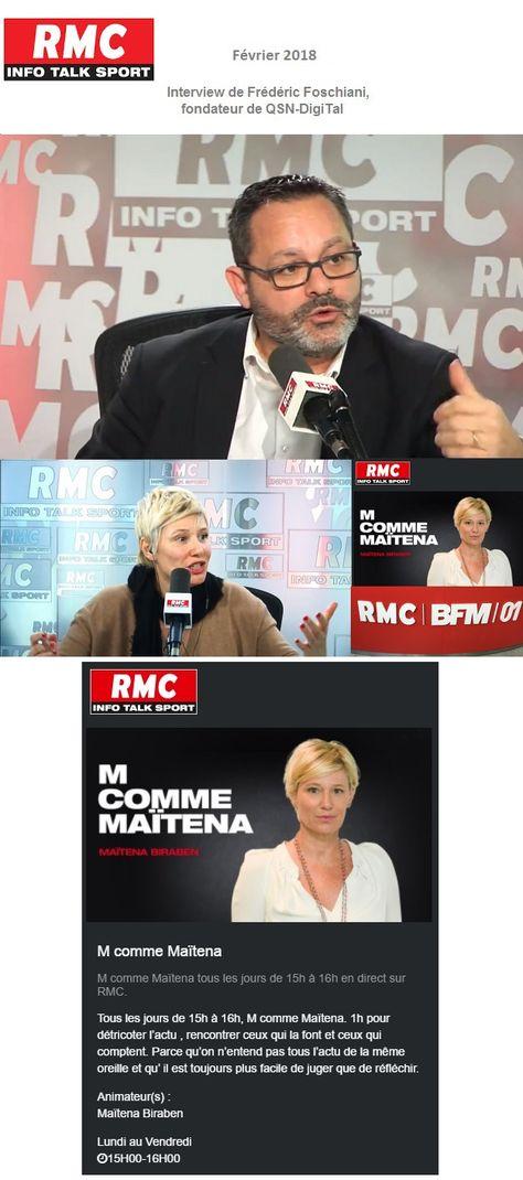 *Interview* / Frederic Foschiani,CEO de QSN-DigiTal, sur RMC