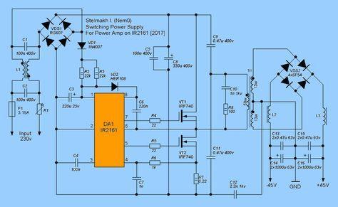 IR2161 SMPS Circuit IR2153 Alternative ir2161 smps schematic
