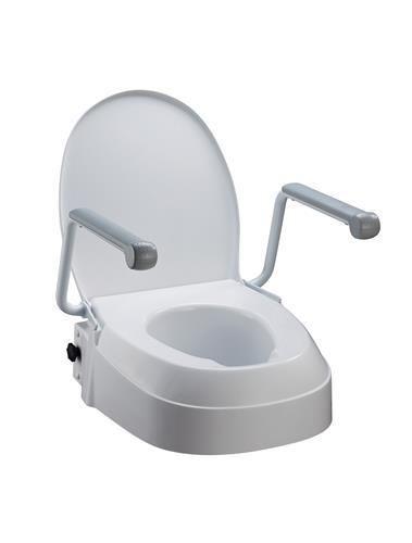 Brilliant Raised Toilet Seat With Armrests Disability Aids Toilet Machost Co Dining Chair Design Ideas Machostcouk