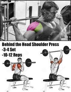 behind the head shoulder press