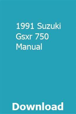 1991 Suzuki Gsxr 750 Manual | tassubclata | Repair manuals