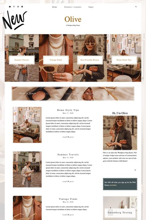 Olive - A Feminine WordPress Theme