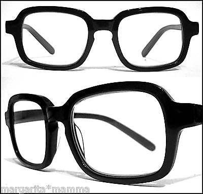 bad bold square reading glasses 1 00 nerd black large unisex eyeglass frames ebay mens style pinterest bald hairstyles unisex and squares - Ebay Eyeglasses Frames