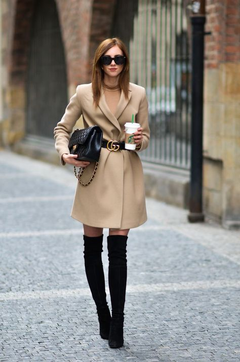 The new way to wear a coat. Why to wear your coat in the classical way when you - Gucci Boots - Ideas of Gucci Boots - The new way to wear a coat. Why to wear your coat in the classical way when you can upgrade it a little bit and wear something differen