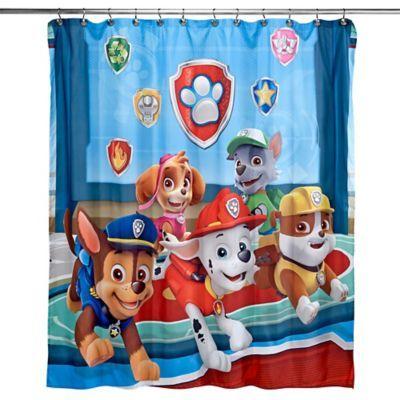 Paw Patrol Best Pup Pals 72 X 72 Shower Curtain Multi Paw