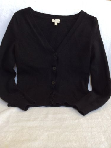 Black Merino wool Small cardigan/sweater! LOVE! Talbots Black ...