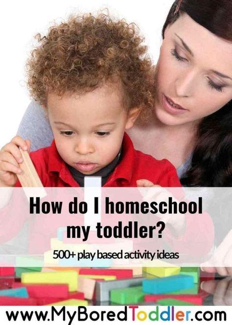 How do I homeschool my toddler?
