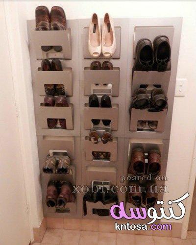 افكار جديده للتخلص من فوضى الاحذيه اصنعيها بنفسك روعه افكار لعمل جزامة بالصور Kntosa Com 09 19 156 Shoe Storage Hacks Shoe Rack Closet Shoe Storage Design