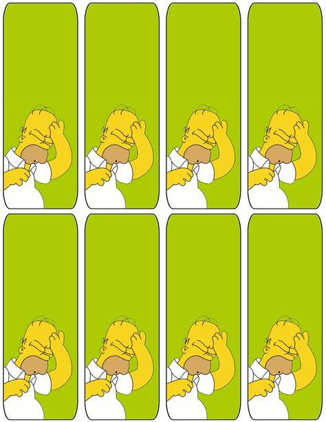 The Simpsons Homer Bookmarks Free To Use And Free To