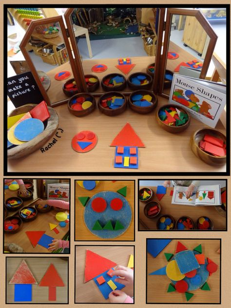 """Creating pictures with shapes - from Rachel ("""",)"""