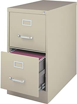 Lorell 88033 Vertical File Cabinet 2dr Ltr 15 Inch X28 1 2 Inch X28 Inch Putty In 2020 Filing Cabinet Cabinet Drawers