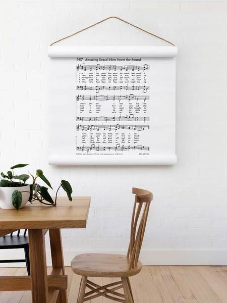 Amazing Grace Putting This Wall Scroll In Your Home Is As Easy As