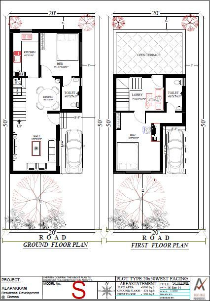20x50 South Duplex South Facing House House Plans Duplex House Design