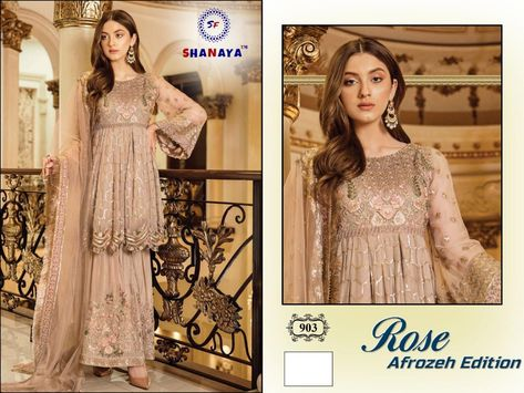 shanaya rose afgrozen edition 903to 903ab  fox goegette heavy emberdodery salwar kameez set & loose