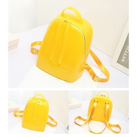 1082b8904a511d Yellow Backpack Cute Clear Jelly Bags #streetstyleoutfits #streetfashion  #streetstyleinspo #trendingbags #bags #bagfie #vintagefashion #vintagestyle  ...