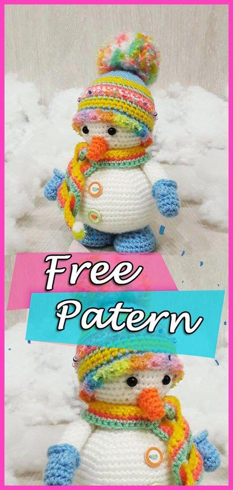Crochet Snowman Amigurumi Free Patterns | 997x474