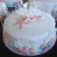 My ocean theme wedding cakes by Evyone