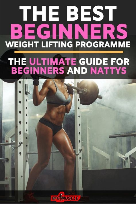 Check out the best beginners weight lifting program today. This weight training plan for men and women is not only perfect for beginners but also natural weight lifters. You will learn how to build muscle fast with the most effective and efficient workout Beginner Weight Lifting Program, Weight Lifting Plan, Strength Training For Beginners, Weight Lifting Workouts, Workout Plan For Beginners, Workout Plan For Women, Strength Training Workouts, Weight Lifters, Training Plan
