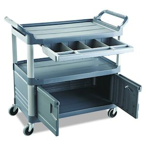 Rubbermaid Commercial Products 37 8 In 1 Drawer Utility Cart At