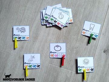 Klamerkowe Pomoce Dydaktyczne Kolory Cz 2 Montessori