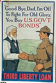 NEW Vintage WWI Print POSTER Goodbye Dad I/'m off to fight for Old Glory