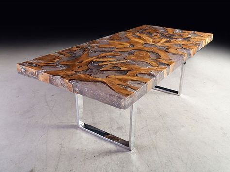 Resin Dining Table Buy Furnituredining Tableslab Wood Table In Resin
