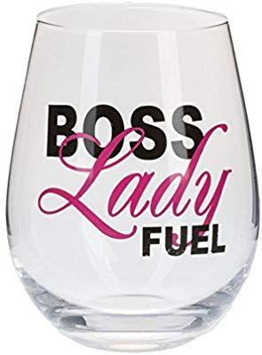 Amazon Com Boss Lady Fuel Stemless Wine Glass Wine