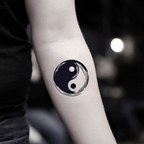 Yin Yang Temporary Tattoo Sticker (Set of 2)