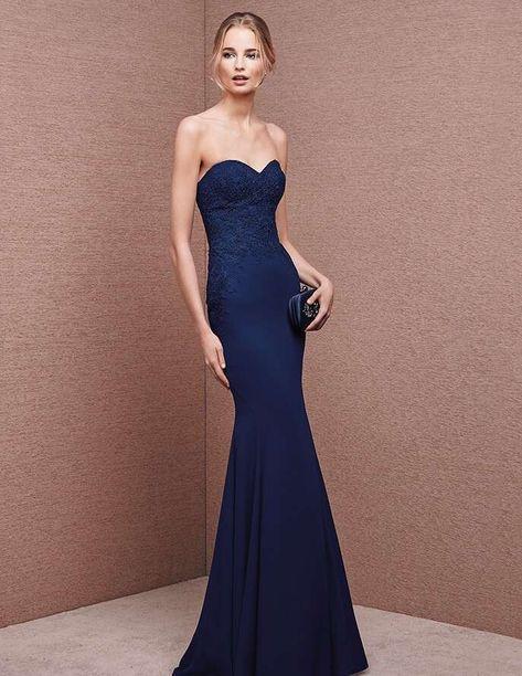 separation shoes 4c9a7 3d601 Abito blu notte - Vestito da cerimonia con corpetto a cuore ...