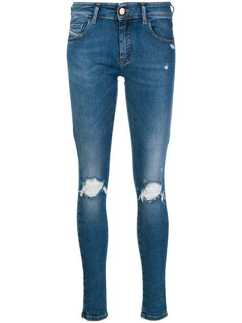 29789d989381 Diesel Slandy-Low 084UF skinny jeans - Blue | Products in 2019 ...