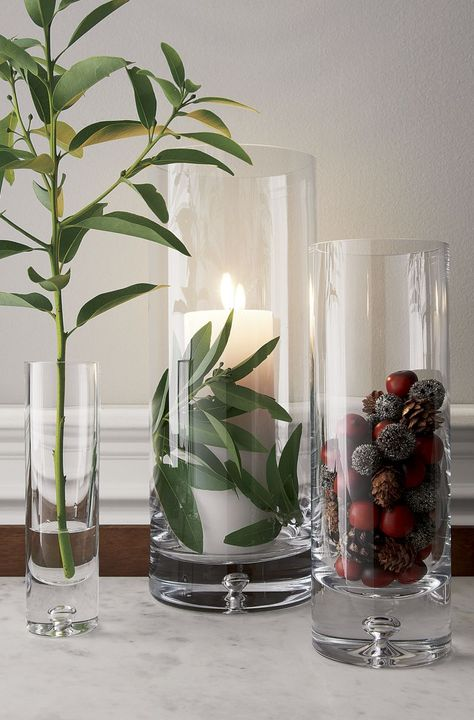 Direction Tall Vase - Crate and Barrel Tall Glass Vases, Clear Vases, Cylinder Vase, Bud Vases, Glass Jars, Vase Centerpieces, Vases Decor, Vase Decorations, Table Centerpieces For Home