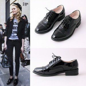 Oxfords Patent Leather Lace up