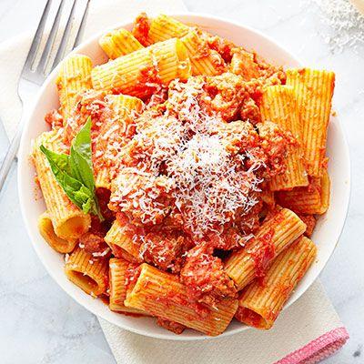 Parmesan & Sausage Bolognese #pastarecipes #easydinners