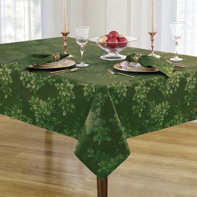 Basics Poplin Table Cloth Christmas Table Cloth Oblong Tablecloth Holiday Tablecloths