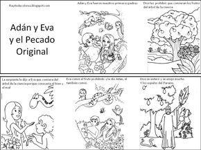 Adán Y Eva Y El Pecado Original Para Colorear Pokemon Adan Y Eva