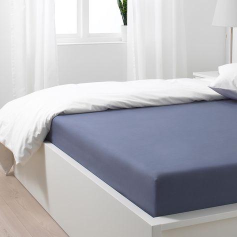 Somntuta Spannbettlaken Blaugrau Ikea Osterreich In 2020