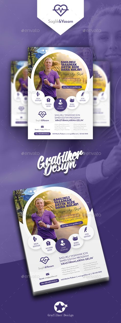 Healthy Life Flyer Templates