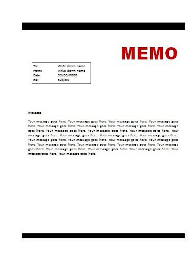 Memo Template Free Word Templates Files Pinterest - general release form template