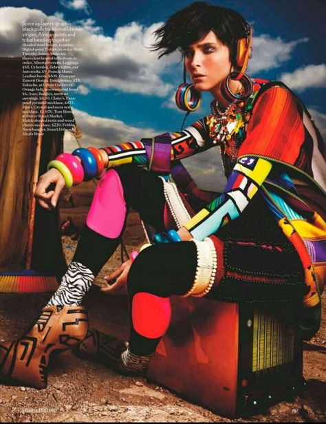 Vogue UK May 2012 Editorial: High Plains Drifter Model: Carmen Kass Photographer: Mario Testino Stylist: Lucinda Chambers